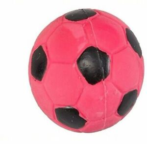 """Spot Ethical 2"""" Pink Latex Soccer Ball Mini - Small Dog Toy With Squeaker"""