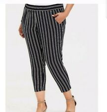 Torrid Semi Sheer Cropped Stripped Pants Plus size 0X