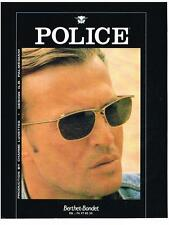 PUBLICITE ADVERTISING   1993  POLICE   collection lunettes