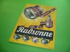 208R01 Prospekt (1935) RADSONNE Fahrrad Scheinwerfer Lichtmaschine Dynamo