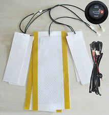 1 seat install,Round switch side flap heat pad seat heater kit, heated seat kit