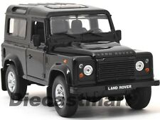 WELLY 1:24 LAND ROVER DEFENDER DIECAST MODEL CAR SUV BLACK 22498 NEW