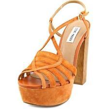 Sandalias y chanclas de mujer de tacón alto (más que 7,5 cm) de color principal marrón de ante