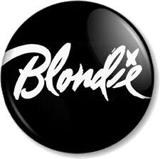 BLONDIE LOGO 2 25mm Pin Button Badge Logo Punk Rock Pop Band Atomic Debbie Harry