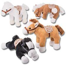 Prextex 4 Piece Plush Horses 10'' Tall Stuffed Animal Horses