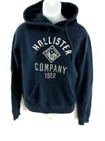 HOLLISTER Womens Hoodie Jumper S Small Navy Blue Cotton & Polyester