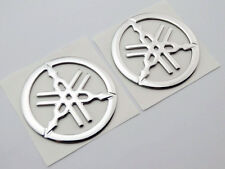 2pc 50mm Tuning Fork Tank Fairing Emblem Decal Sticker For Yamaha Racing Moto