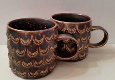 Pair of Starbucks 2015 Anniversary Coffee Mug Mermaid Golden Scales Siren Cup