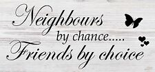 Friendship Sign Gift Shabby Chic Plaque - Neighbours by Chance Christmas