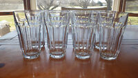 Clear Glass Tumblers Glasses 12 Oz in Baroque by Pasabahce of Turkey EUC
