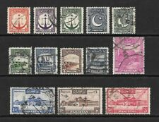1948 King George VI SG24 to SG Set of 13 Stamps Fine Used PAKISTAN
