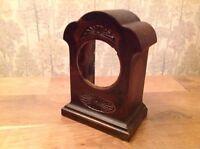 """Antique Vintage  Bronze Mantle Clock Case Good Quality   4x6x3"""" Aperture 2 1/4"""""""