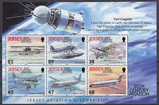 Jersey 2003 Powered Flight Booklet Pane (1) (Gagarin) UM SGMS1080a Cat £5.50