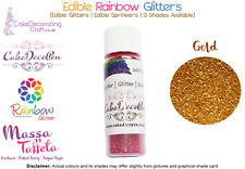 Rainbow paillettes | 100% Edible | Cake Decorating Craft | 7 Sommeil | Gold Shade
