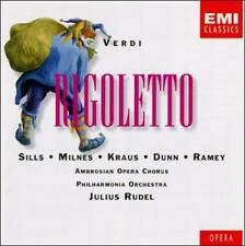 Giuseppe Verdi: Rigoletto 2 CDs w/ booklet EMI Classics