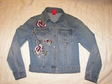 Very Vera Stretch Denim Jacket with Embellished Embroidery Trim  - PP - Small