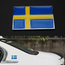 Auto Car New Metal 3D Sweden Swedish Flag Badge Emblem Side Rear Body Sticker