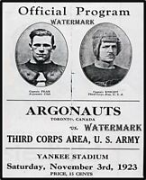 CFL 1923 Toronto Argonauts vs U.S.Army in Yankee Stadium Program 8 X 10 Photo