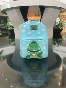 🦖Loungefly Disney Pixar Toy Story Rex Mini Backpack Clouds ROAR! SHIPS TODAY!✅
