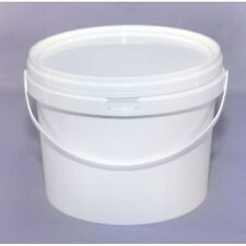 20 pcs.WHITE 1000ML Plastic Buckets Tubs Containers with Lids Food grade