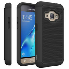 Black Hard Case for Samsung Galaxy Express 3 / Luna / J1 Luna Hybrid Cover