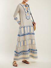 DODO BAR OR Samuelle Tassel-Trim Cotton Maxi Dress Size Small