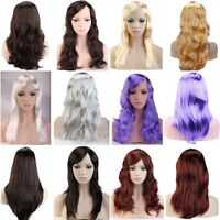 Lady Cosplay wig Long Straight Curly Wavy Brown Blonde Red Pink Party Full Wigs