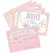 Advice For The Bride Cards Bridal Shower Guest Book Marriage Wedding Wishes