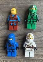Lego Ninjago Minifigure Heroes Lot (4) - Jay Zane Lloyd Nya