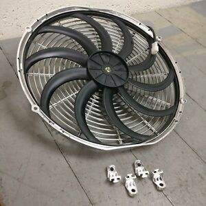1951 Cadillac Series 62 16 Inch Chrome Radiator Fan 12v cooling electric