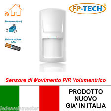 SENSORE DI MOVIMENTO PIR VOLUMETRICO WIRELESS ALLARME ANTIFURTO WIFI SENZA FILI