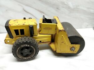 Vintage Tonka Toys Truck Metal Steam Roller Tractor Yellow Construction 70s-80s