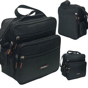 Black Canvas Bag Utility Cross Body Messenger Shoulder Travel Work Men's Ladies