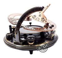 Brass Nautical Compass Maritime Sun-dial Clock Compasses Christmas Sundiel Hikin