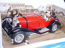 Bburago Disney Collection MERCEDES-BENS SSK MICKEY MOUSE Comic Car MIB RARE!