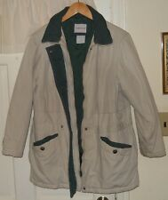 S Beige/Green BOBBIE BROOKS Barn JACKET/COAT OK Condition cleaned could use more