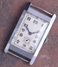 Gervaux 30s Vintage Art Deco Hinged Engraved Case 15j AS 676 Ticks Parts/Restore
