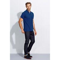 Mens Portland Cotton Pique Polo T Shirt Short Sleeve Work Play Plain Casual Top