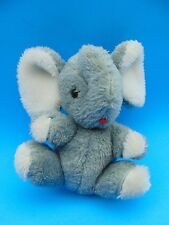 """Grey Elephant Jerry Elsner Plush 6"""" 1979 CUTE made in Taiwan"""