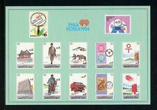 Korea OS #2 MNH POSTCARD PHILAKOREA '94 Stamp EXPO $$