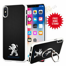Peugeot Car Phone Case Cover & Finger Ring Stand For Top Mobiles 041-11