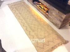 Eco Friendly Handmade Natural JUTE Authentic Ethnic Design Long Hall Rugs Runner