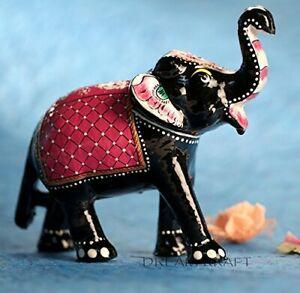 PAPERMACHE Elephant Handmade & Hand painted  6 Inch Showpiece Idol Home Decor