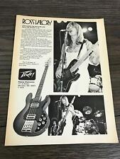 1979 VINTAGE 8X11 PRINT AD for Peavey T40 BASS GUITAR Journey Ross Valory