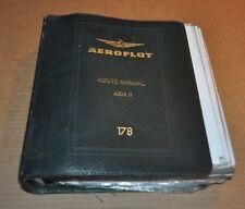 Jeppesen Aeroflot Route Manual Aircraft Book Original