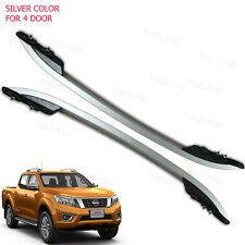Roof Rail Bar Silver 2 Pc For Nissan Np300 Navara Pickup 4 Door 2012 - 2017