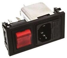 MASCHIO C14 IEC Filtro a scatto 5 x 20mm, VOTO A 6A, 250 V AC