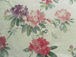 Sanderson Curtain Fabric RHODERA 2.45m Blossom Floral Linen Design 245cm