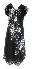 Womens Black & White Embellished Printed Flutter Short Sleeve Dress 1X-2X-3X NWT