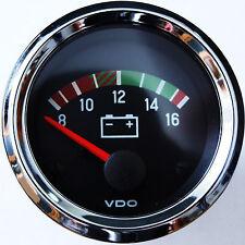 """VDO Chrom """"internat."""" Voltmeter Spannungsanzeige"""
